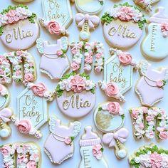 Baby Shower Buffet, Baby Shower Niño, Baby Shower Cupcakes, Shower Cakes, Baby Shower Desserts, Girl Birthday Cupcakes, First Birthday Cookies, Baby Girl Birthday, Butterfly Baby Shower
