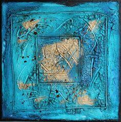 Farbenergiebild Joy / Quadrat Türkis #farbfeldmalerei #rothko #expressionismus #expressionism #abstrakt #abstract #art #kunst #modern #leinwand #canvas #painting #artwork #painting #gemälde #fineart