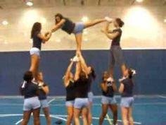 Panther Valley Varsity Cheerleading Kick Twist Pyramid.MP4 - YouTube
