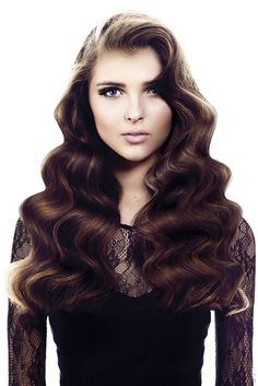 Saks - Long Brown wavy hair styles (22045)