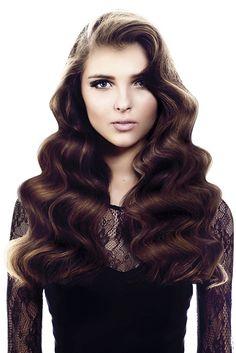 Saks - Long Brown wavy hair styles (22045)