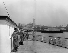 Seattle's waterfront skyscape from the ferry in 1952, when the Smith Tower stood prominently beside its downtown neighbors. (Courtesy Seattle Municipal Archives, item 24220.) Via Waterfront Seattle on Facebook.