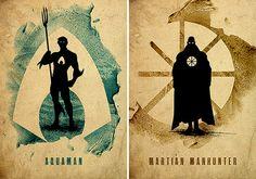 Justicia Liga minimalista cartel Set / 8 Poster / por moonposter