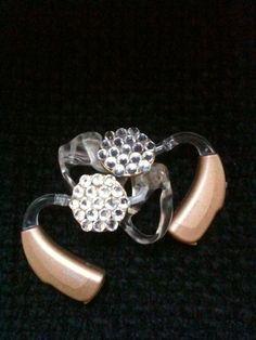 Hearing aid jewelry with rhinestones www.balancine.nl