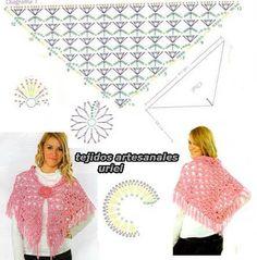 Schéma ou diagramme pour Crochet Modèle Chèche ou châle