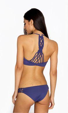 Frankies Bikinis - Capri Top   Catalina Blue Crochet Bikini