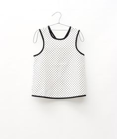 Motoreta | cross back blouse | white polkadot — Petit Fauve