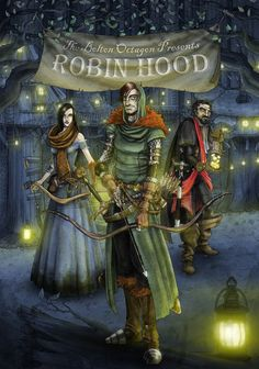 A poster for Robin Hood at the Bolton Octagon Theatre in the U.K.  looks like a cool place wish I could visit.