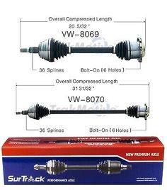 SurTrack VW-8066 CV Axle Shaft