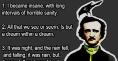 10 Spooky Quotes From Edgar Allan Poe. #8 is Haunting.