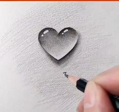 Easy Love Drawings, Art Drawings Beautiful, Girly Drawings, Art Drawings Sketches Simple, Heart Pencil Drawing, Love Heart Drawing, 3d Pencil Drawings, Earth Day Drawing, Earth Drawings