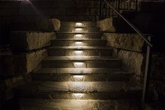 LED Hardscape Lighting - Deck/Step and Retaining Wall Lights w/ Mounting Plates Led Outdoor Landscape Lighting, Landscape Lighting Design, Backyard Lighting, Landscape Walls, Strip Lighting, Lighting Ideas, Outdoor Landscaping, Exterior Lighting, Wall Lights