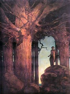 Jason and the talking Oak by Maxfield Parrish #art