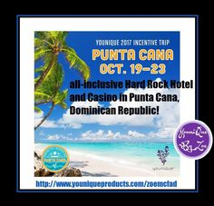 This years incentive trip has been announced 4 days all inclusive hard rock hotel in punta Cana in Dominican Republic for a younique presenter & guessed . Yes I did say for two in October with $750 in hotel credit  . Qualifying time starts January so now best time to join younique all this for selling makeup #amazing message me for details #australia #newzealand #germany #france #spain #uk  #usa #canada #mexico #hongkong #italy #holiday