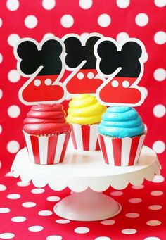 Cupcakes de Mickey mousse