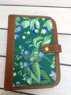 Laura Ashley Floral Berry Print Leather Planner Binder Franklin Covey Green Blue #LauraAshley