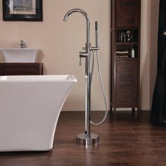 Buy Freestanding Bath Shower Mixer Tap - Range from Appliances Direct - the UK's leading online appliance specialist Amazing Bathrooms, Better Bathrooms, Freestanding Bath Taps, Bath Shower Mixer Taps, Basin Taps, Water Systems, Shower Heads, Chrome Finish, Bathtub