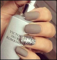 Simple nails like the soft look instead of the shiny look