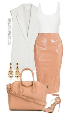 """""""Body"""" by highfashionfiles ❤ liked on Polyvore featuring Alexander Wang, Oscar de la Renta, Thapelo Paris, Givenchy, Christian Louboutin and Miriam Haskell"""
