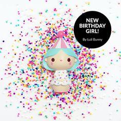 Birthday Girl doll design for Momiji — https://lovemomiji.com http://www.lulibunny.com