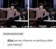 What are my chances on getting a date with Felicity? - Stephen Amell at #WizardWorld Comic Con 2015 #Olicity #Arrow #Season4
