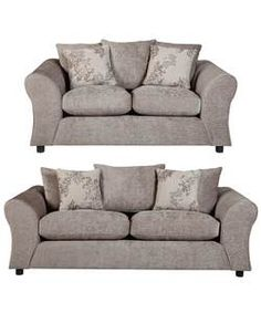Clara Large And Regular Fabric Sofas