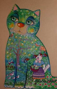 Pomme-verte-cat-29x42cm-orig-chat-chats-cat-cats-katze-gato