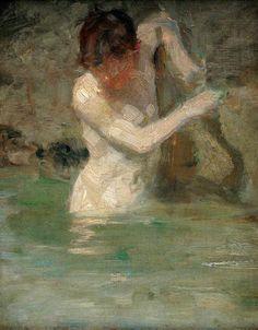 Henry Scott Tuke- boy bathing 1886