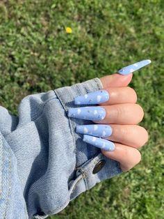 Halloween Acrylic Nails, Blue Acrylic Nails, Simple Acrylic Nails, Square Acrylic Nails, Clear Acrylic, Edgy Nails, Grunge Nails, Swag Nails, Nagellack Design