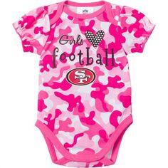 NEW Baby Girl San Francisco 49ers One Piece 3 thru 18M NFL Football Pink