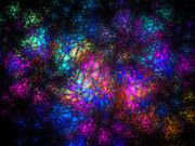 FRACTALS Art - Stain Glass Fractal Abstract by Andee Photography