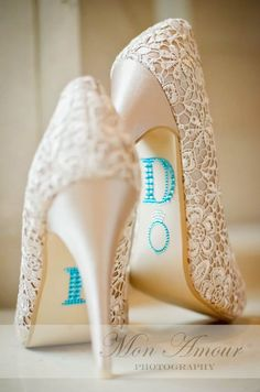 "Gorgeous shoes with ""Something Blue"""