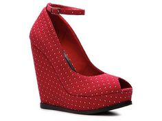 A subtle polka-dot wedge - also available in navy - Restricted Sugar Wedge Pump High Heel Pumps Pumps & Heels Women's Shoes - DSW