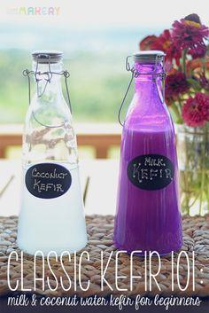 Classic Kefir 101: Milk and Coconut Water Kefir for Beginners | Camp Makery