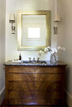 Powder room in client's house in Sandy Springs. By Phoebe Howard.