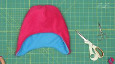 Fleece Hat with Ear Flaps Pattern (free) with tutorial ♥ Fleece Fun Fleece Hat Pattern, Fleece Patterns, Hat Patterns To Sew, Sewing Patterns Free, Free Sewing, Sewing Tutorials, Free Pattern, Sewing Ideas, Beanie With Ears