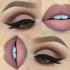 eye makeup Perfektes Make-Up fr Braune Augen! Perfektes Make-Up fr Braune Augen! Matte Makeup, Matte Eyeshadow, Contour Makeup, Eyeshadow Makeup, Lip Makeup, Eyeshadow Ideas, Makeup Art, Makeup Monolid, Beauty Makeup