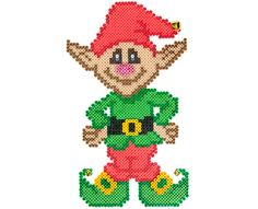 Christmas Santa's Elf Door Decoration project pattern perler beads - Perler®