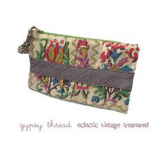 """Vintage Floral """"Ikat"""" Clutch by Gypsy Thread"""