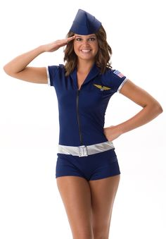 Air Force one piece biketard. Great dance costume or pro uniform. Even works as a Halloween costume!