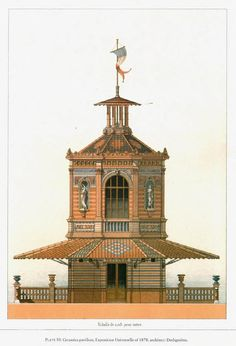 Design for the Ceramics Pavilion at the 1878 Exposition Universelle, Paris