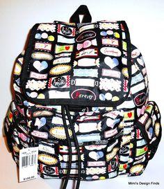 LESPORTSAC Voyager Backpack *NEW* Sweet Talk Print Polyester 7839 D742 Vegan NWT #LeSportsac #Backpack