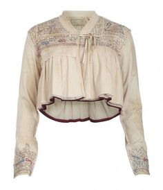 Jacket - bet you could make this from a sweat shirt!  Add some embroidery on the sleeves and yoke.  Voila!