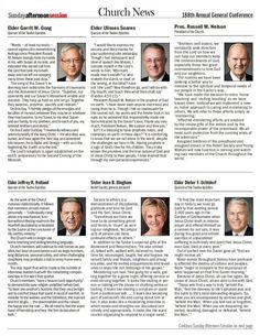 #GeneralConference at a Glance. Enjoy these summaries of the talks given during the April 2018 #LDSconf Sunday afternoon session; page one (of two). deseretnews.com/article/900014480/188th-annual-general-conference-talk-summaries.html Learn more facebook.com/GeneralConference and #passiton. #ShareGoodness