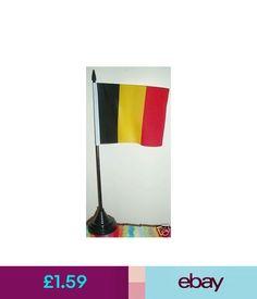 Country Flags Belgian Desk Flag. Belgium Brussels Bruxelles Walloon Eu Euroland Business Bn #ebay #Collectibles