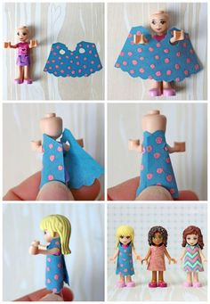 Free dress template for Lego Friends - oh how Miss7 will LOVE this!!!: