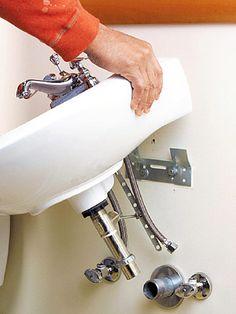 installing a pedestal sink how to install a new bathroom diy