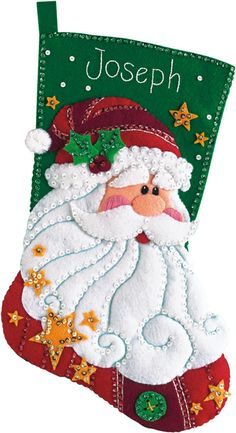 Sequined Santa Stocking