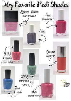 the best colors of nail polish for a pedicure