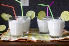 frozen coconut limeade - Smitten Kitchen (so easy...and can add rum...definitely making on vacation!)